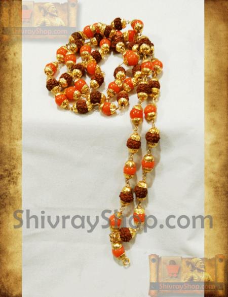 Pohala-spatik-raudraksh-chain-rajumdra-locket-shivray-sakhalirudrakshamal
